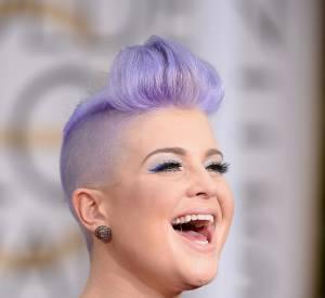 Kelly Osbourne a fait de sa coloration violet pastel une des signatures de son look.