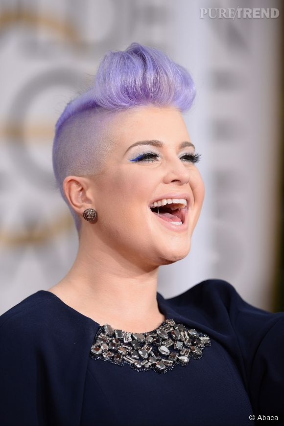kelly osbourne a fait de sa coloration violet pastel une des signatures de son look - Coloration Violet Pastel