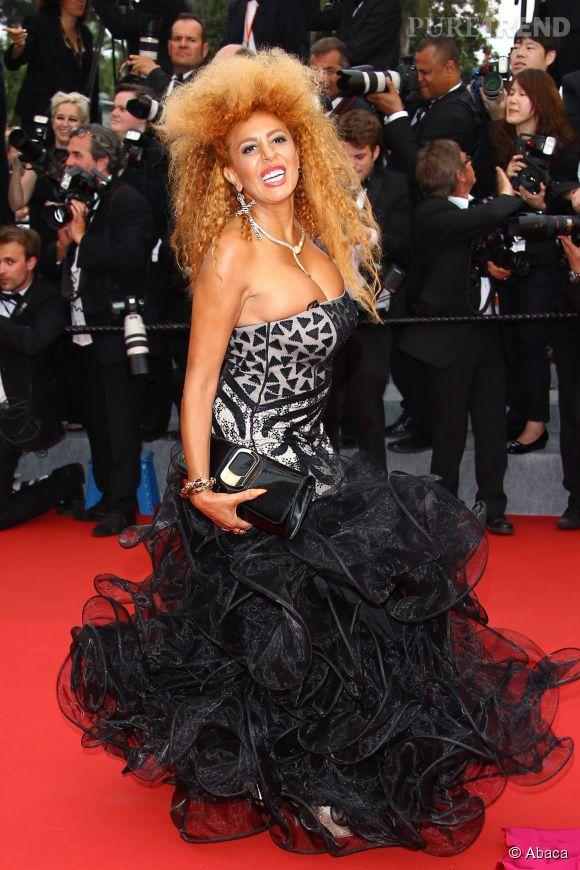 Afida Turner au Festival de Cannes 2015. Elle a réussi à se faire photographier sans déclencher de réaction de la part de la sécurité.