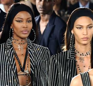 Naomi Campbell et Joan Smalls au défilé Givenchy homme Printemps-Été 2016.