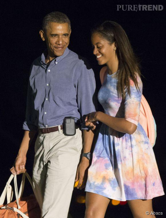 Barack Obama aimerait que sa fille reste toujours petite.