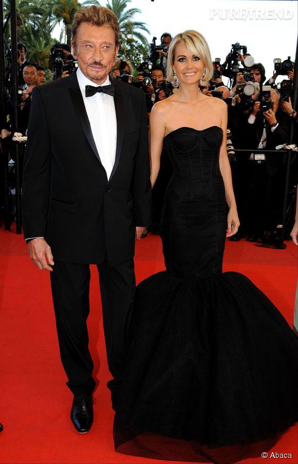 Johnny Hallyday, ici avec sa femme Laeticia Hallyday au 62ème Festival de Cannes en mai 2009, se confie dans une nouvelle interview accordée au magazine Paris Match.