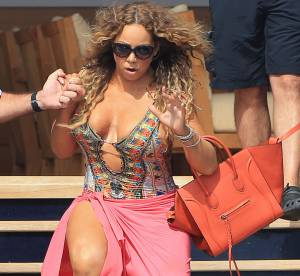 Mariah Carey : maillot, paréo et talons trop hauts, la diva trébuche !
