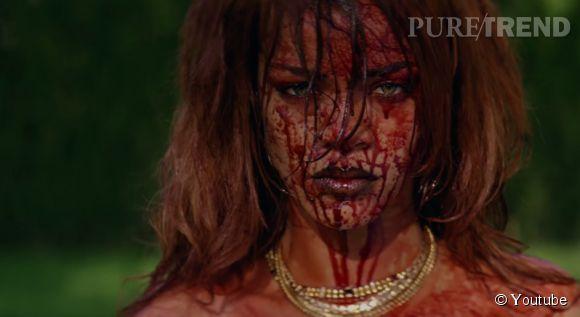"""Rihanna, bad girl vengeresse dans le très gore """"Bitch Better Have My Money""""."""