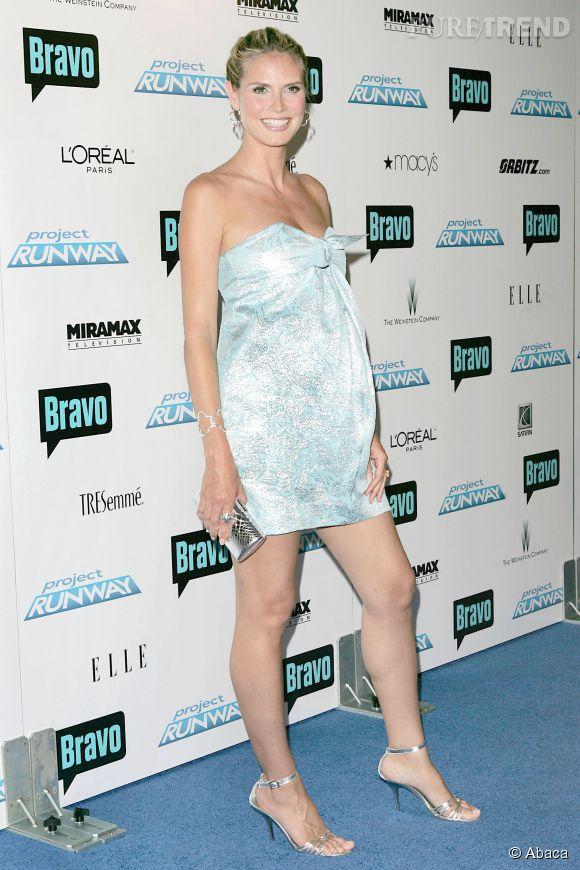 Idem pour Heidi Klum, qui mise sur la robe bustier.