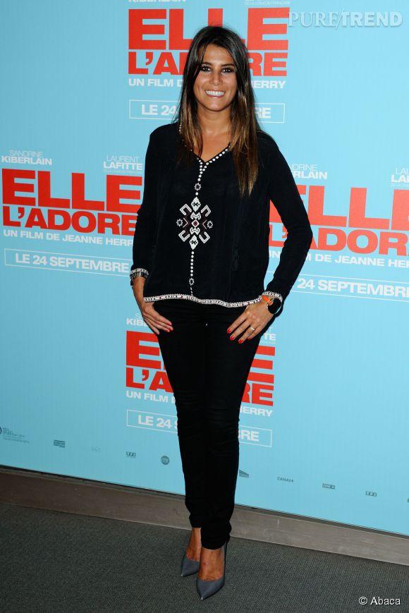"""Karine Ferri à la première du film """"Elle l'adore"""" en septembre 2014."""