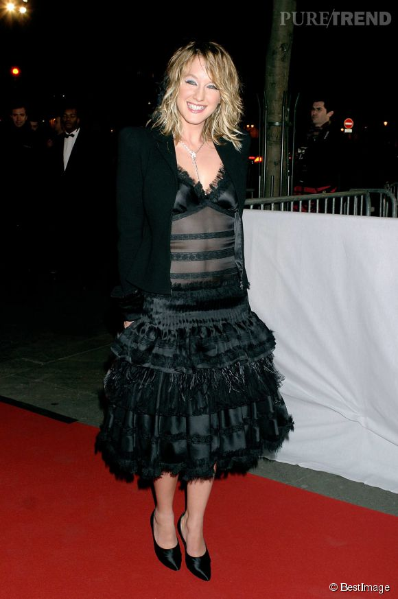 Ludivine Sagnier ose la transparence et les froufrous lors des César, en 2004.