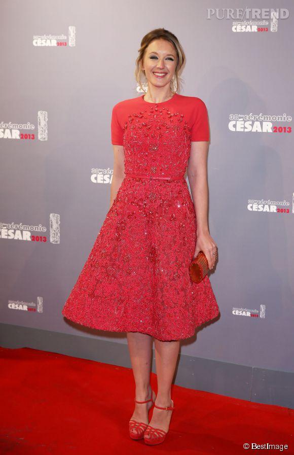 Ludivine Sagnier, ravissante en Elie Saab lors de la cérémonie des César 2013.