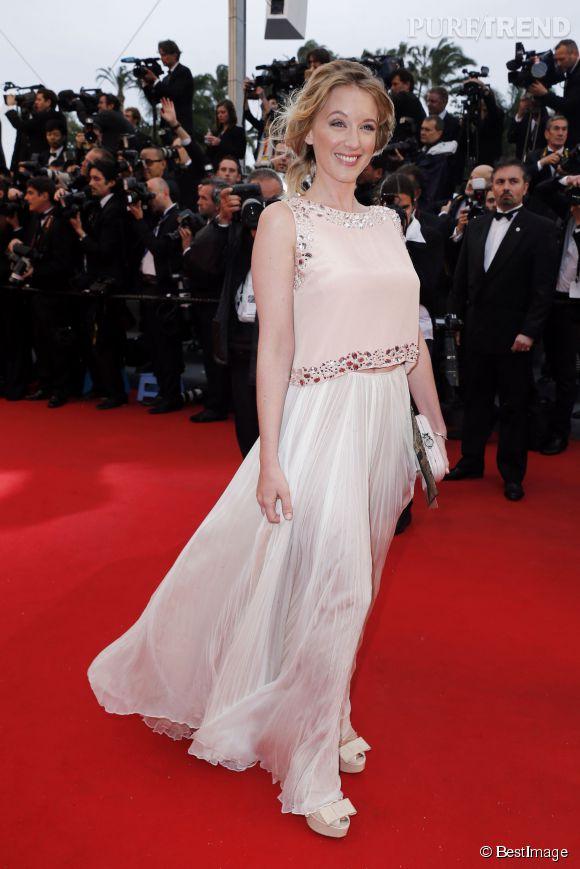 Ludivine Sagnier, belle vestale au Festival de Cannes 2013. Un look à copier pour l'été !
