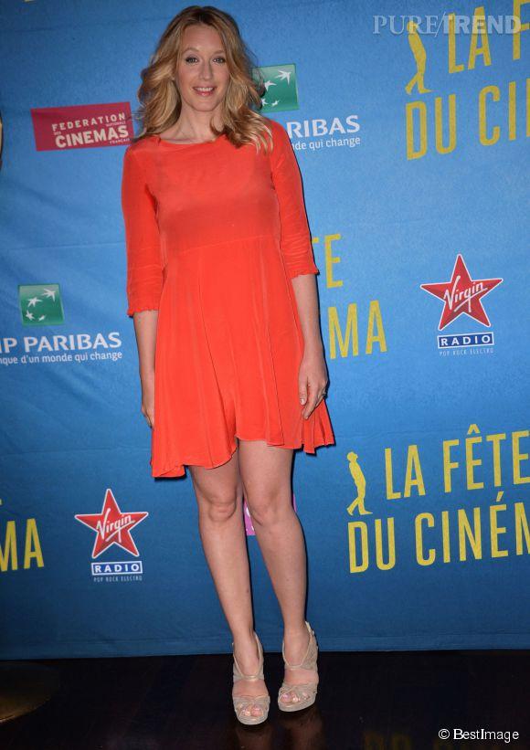Toujours accro aux couleurs vives, Ludivine Sagnier opte pour la robe orange à la Fête du cinéma, en juin dernier.
