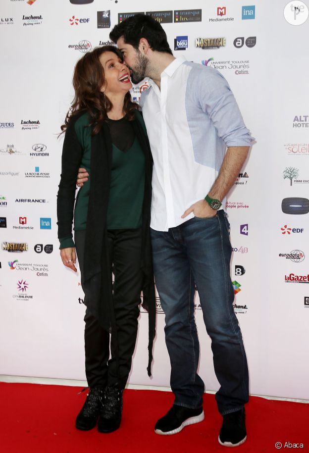 Victoria Abril et Miguel Angel Munoz au festival de Luchon en février 2015.