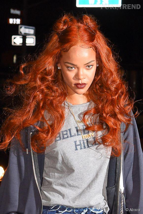 Plutôt qu'un haut de bikini, Rihanna recouvre sa poitrine d'un carré Hermès.