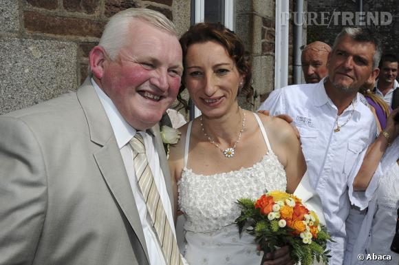 Thierry Olive et son épouse Annie le jour de leur mariage en septembre 2012.