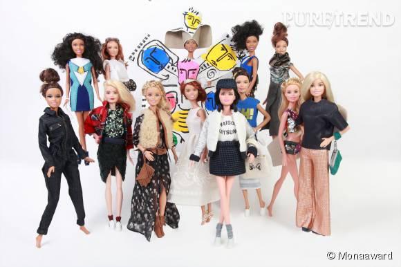 Barbie relookée par 13 créateurs.