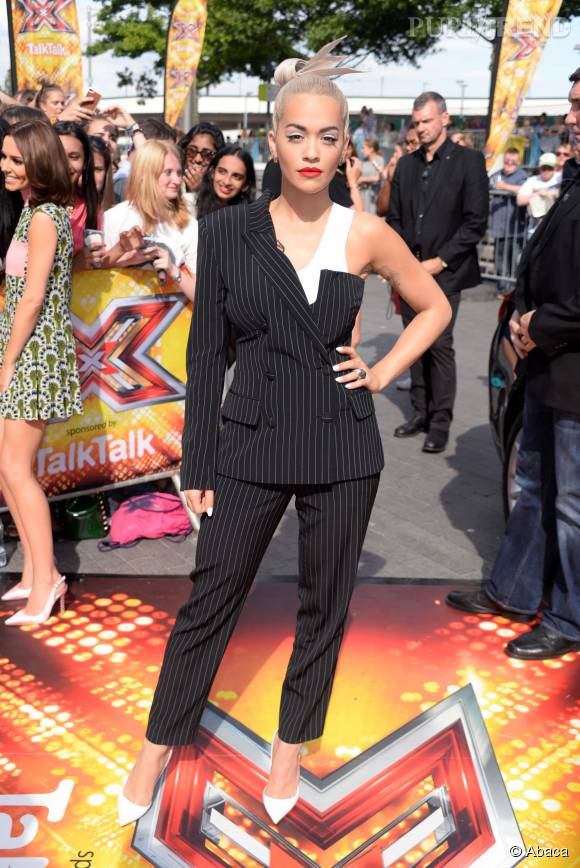 """Rita Ora, jurée du """"X Factor"""" anglais."""