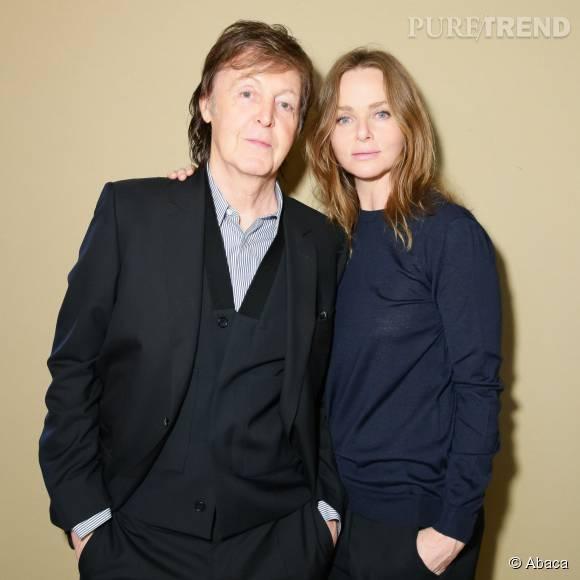 Stella McCartney et son père, Paul.