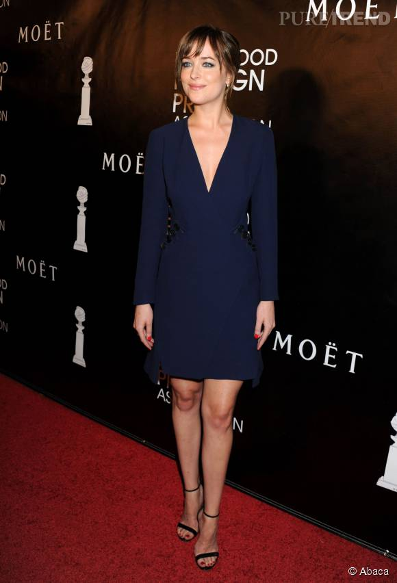 "Dakota Johnson, ce jeudi 13 août 2015 à Los Angeles lors du dîner du ""Hollywood Foreign Press""."
