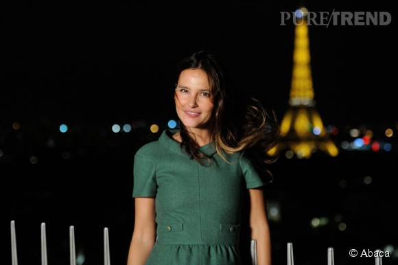 Virginie Ledoyen à la soirée de lancement du Prix de l'Arc de Triomphe le 15 septembre 2015 à Paris.