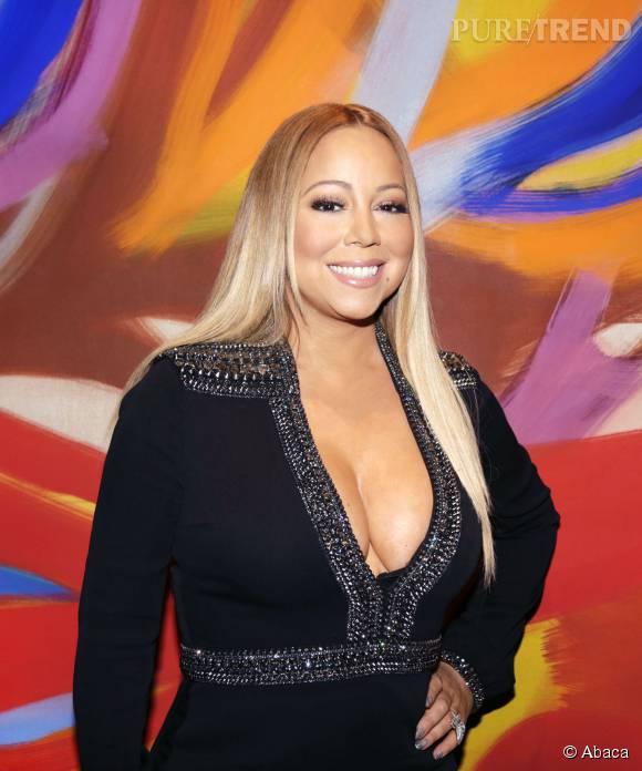 Mariah Carey, toute poitrine débordante.