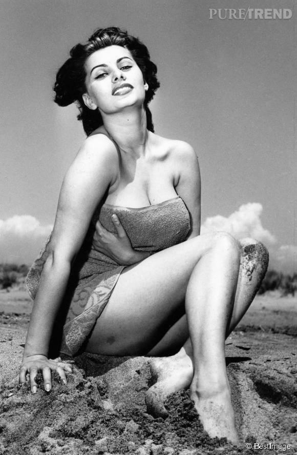 Sophia Loren, une bombe de sensualité.