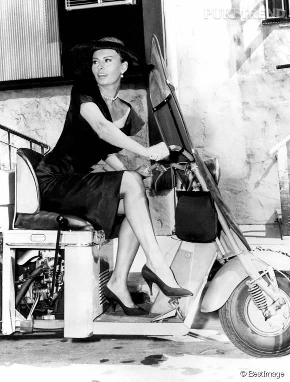 Sophia Loren, l'icône bombesque du cinéma italien.