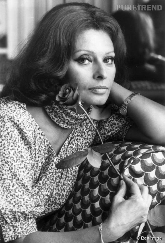 Sophia Loren, une icône dont le regard intense a laissé sa marque sur le cinéma italien.