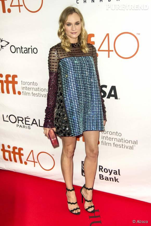 Diane Kruger sublime dans sa robe Prada.