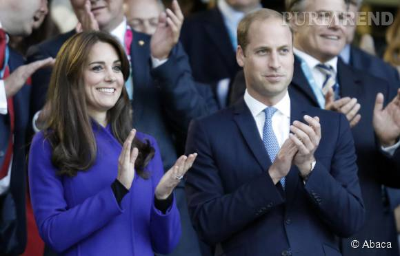 Kate Middleton et le Prince William étaient le centre d'attention du lancement de la Coupe du Monde de rugby, vendredi 18 septembre 2015.
