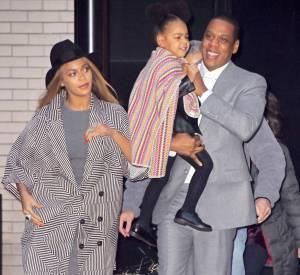 Beyonce est partie avec Jay-Z et leur fille Blue Ivy.
