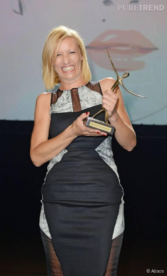 """Alexandra Lamy a remporté le prix de la meilleure actrice au Festival de la fiction de La Rochelle, pour son personnage dans la série télé """"Une chance de trop""""."""