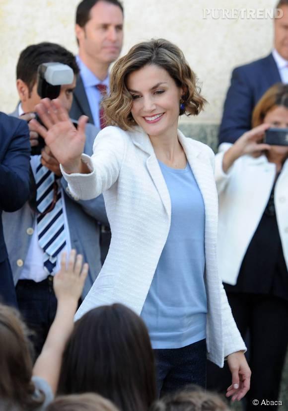 Letizia d'Espagne à Palencia le 21 septembre 2015.