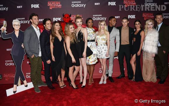 "Le casting de ""Scream Queens"" la nouvelle série de Ryan Murphy au grand complet à le 21 septembre 2015 à Los Angeles."
