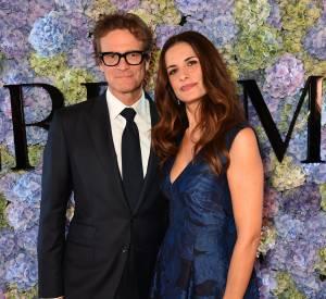 Colin Firthet sa femme Livia Firth à une soirée londonienne mode ce 21 septembre 2015.