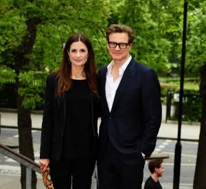 "Colin Firth et sa femme Livia Firthà la première de ""The True Cost, en mai 2015."