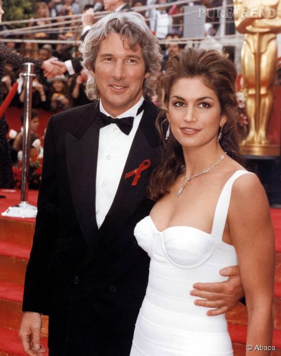 Richard Gere et Cindy Crawford à la cérémonie des Oscars en 1993.