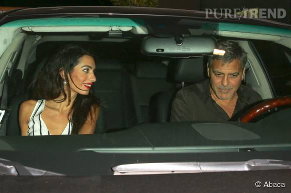 Amal et George Clooney, des rendez-vous galants à foison