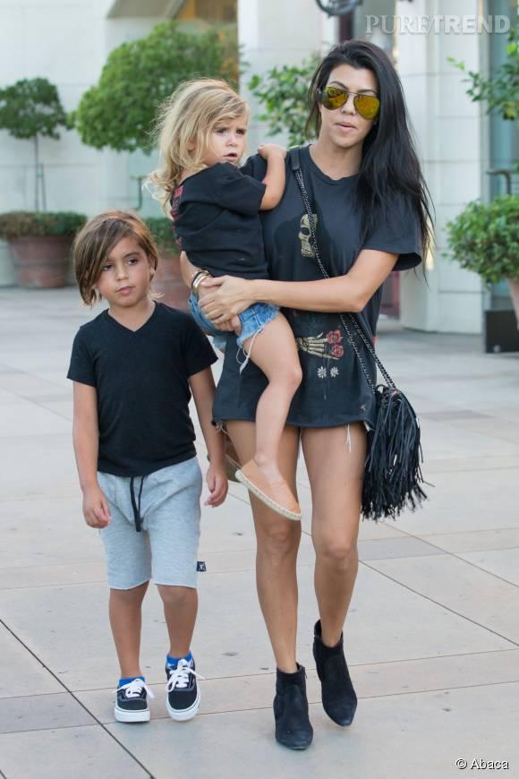 Kourtney Kardashian et sa petite famille à Los Angeles