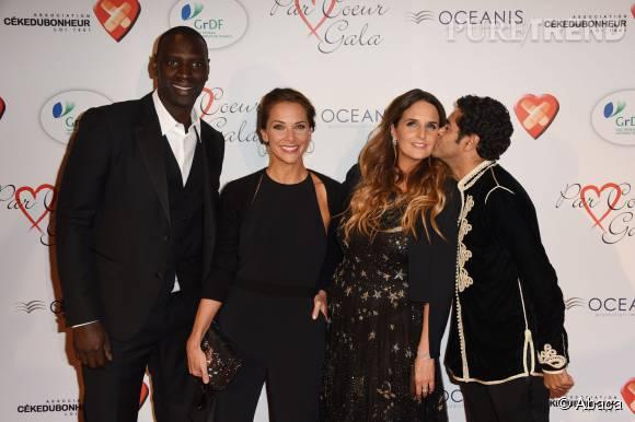 Omar Sy et sa femme Hélène sont de grands copains de Mélissa Theuriau et Jamel Debbouze.