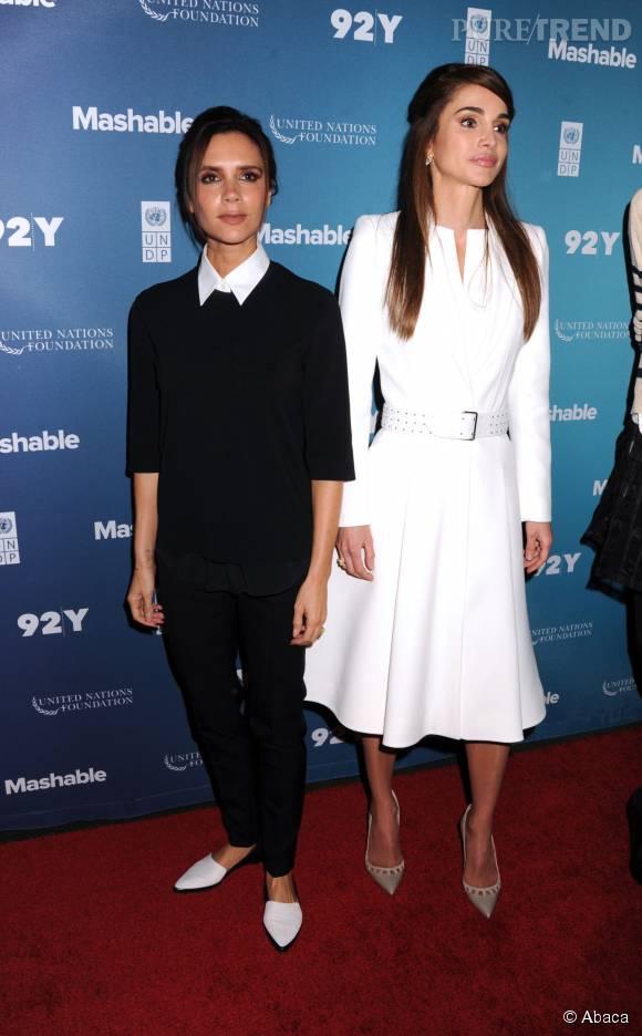 Rania de Jordanie et Victoria Beckham, femmes d'influences pour le Social Good Summit.