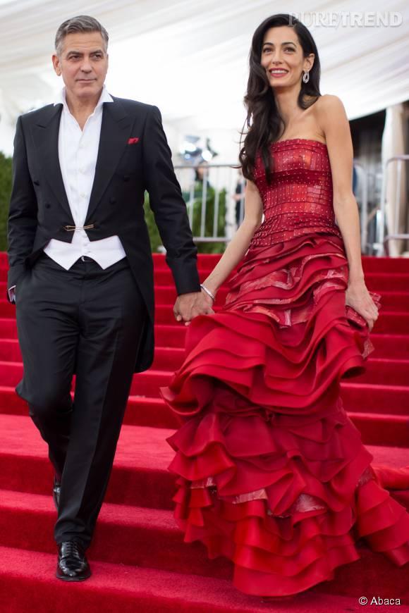 Les stars du Met Gala cette année ? George et Amal Clooney.