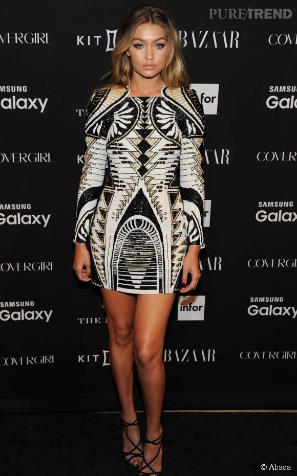 Gigi Hadid, sublime blonde de 20 ans.
