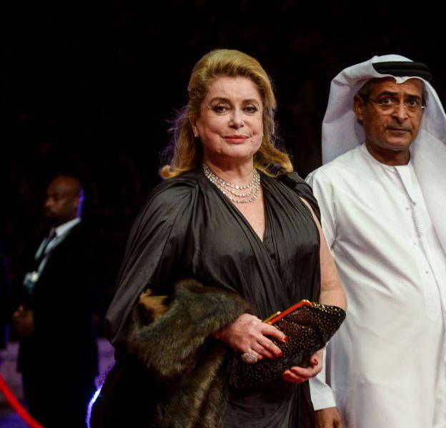 Catherine Deneuve au Festival International du film à Dubaï le 9 décembre 2015.
