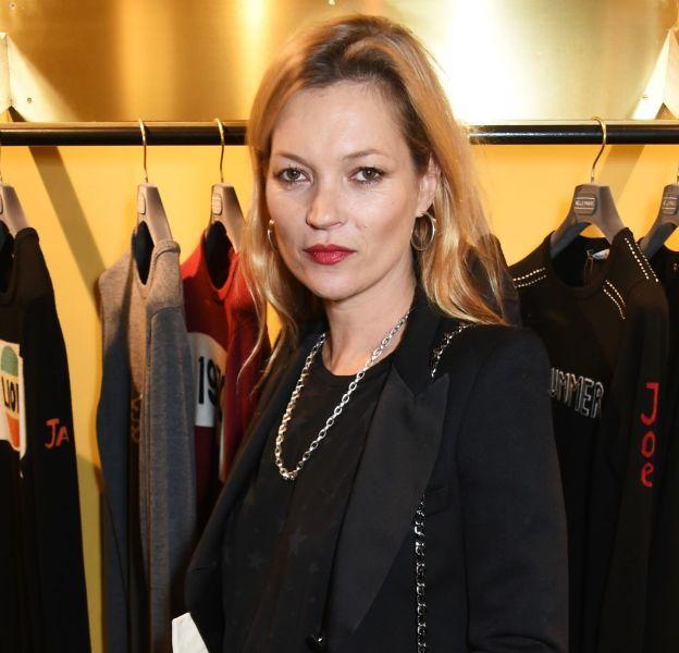 Kate Moss à l'ouverture de la nouvelle boutique Bella Freud de Marylebone le 9 décembre 2015 à Londres.