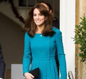 Kate Middleton : elle s'inspire de Lady Diana en robe bleu turquoise