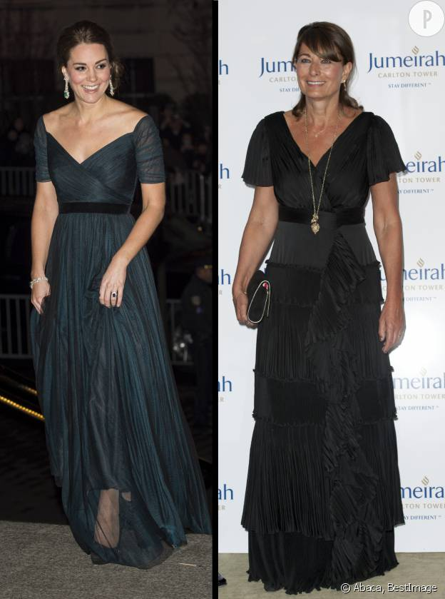 Kate et Carole Middleton, deux princesses à la nuit tombée.