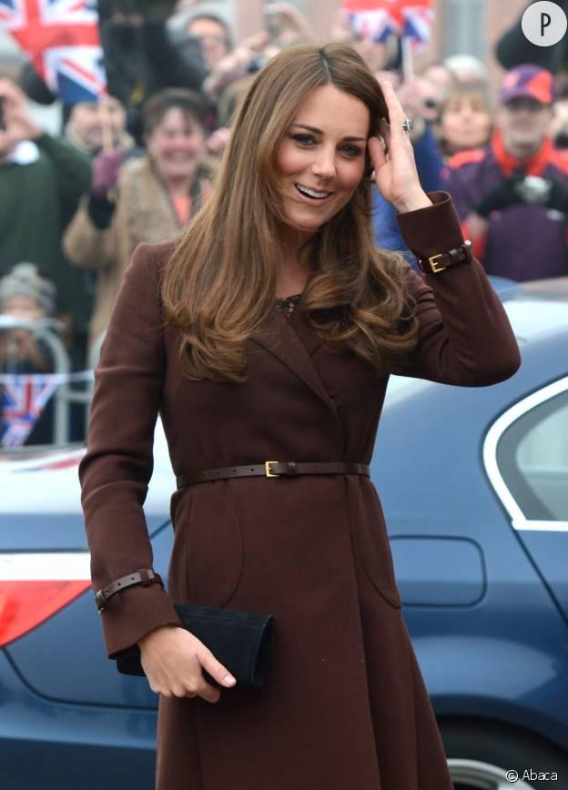 Kate Middleton en mars 2013 lors d'une visite à Grimsby.