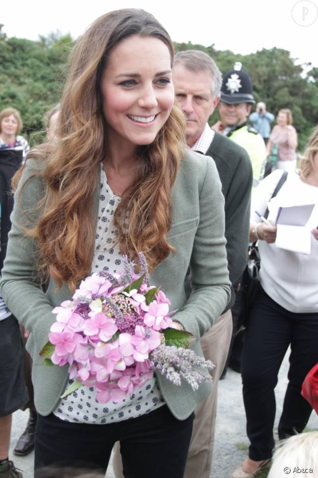 Kate Middleton en août 20163, lors d'un déplacement à Breakwater Country Park avec le prince William.