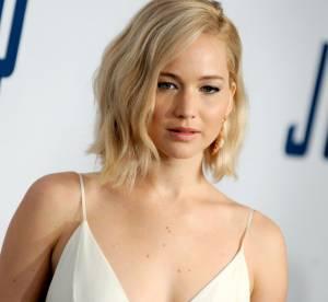 Jennifer Lawrence : robe virginale et brassière en dentelle, une promo très hot