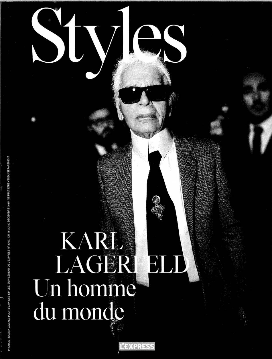karl lagerfeld en couverture du magazine styles de cette semaine puretrend. Black Bedroom Furniture Sets. Home Design Ideas