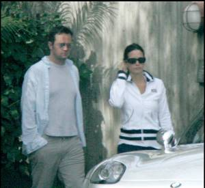 Courteney Cox et Matthew Perry en mars 2005.